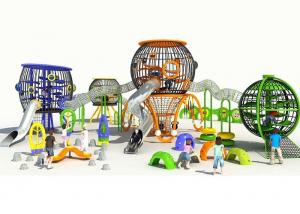China Freestanding Small Commercial Playground Equipment Spherical With Stainless Steel Slide on sale