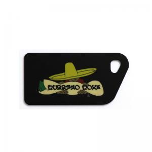 China Custom Soft PVC Luggage Tag 0.84mm - 2mm Thickness Environmental Friendly Materials on sale