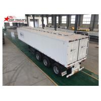 High - Tensile Steel Flatbed Container Trailer With Water Proof Design