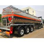 china supplier air suspension 3alxe aluminum tanker trailer empty weight 7T petrol tanker trailer