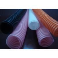 China Corrugated Flexible Tubing Flexible Seal Type , Wavy Shape Black Or White Corrugated Plastic Pipe on sale