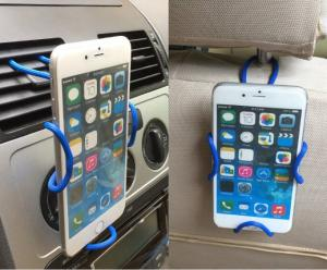 Iphone 8 Flexible Diy Cross Shaped Vehicle Cell Phone Holder