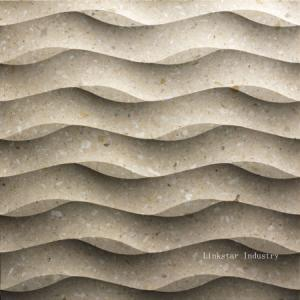 China 3D cnc interior wavy stone wall covering panels on sale