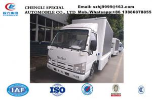 China high quality ISUZU 100p 98hp diesel P4/P6/P8 mobile LED billboard advertising truck for sale, mobile LED truck on sale
