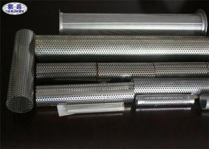 China Metal Perforated Stainless Steel Pipe For Liquids / Solids / Air Filtration on sale
