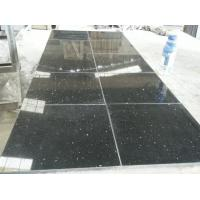 Heat / scratch resist solid surfaces stone kitchen tiles wall tile , Black