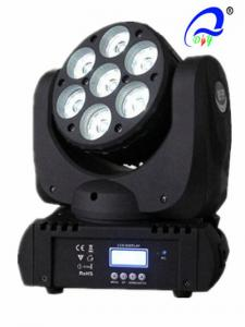China 7 Pc 12W 4in1 LED Mini Moving Head Light RGBW Wash Light Disco LED Stage Lighting on sale