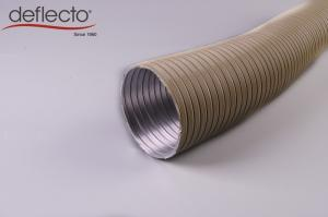 China 500mm Semi Rigid Flexible Duct / Flexible Heating Duct With Resin Coated on sale