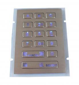 China 15 Keys 0.45Mm Short Stroke Door Entry Keypad High Performance on sale