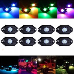 Quality LED RGB Rock Light For Trucks Multi Color Bluetooth Control Under Car LED Underbody Lights Underglow Lights Accessories for sale