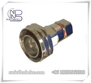 China RoHS 7 / 16 DIN Male RF Feeder Connectors made by fined copper for 1 / 2  Super flexible Cable on sale