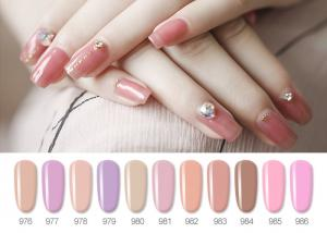 China Sweet Color Pink Lovely Jelly Gel Nail Polish With Uv Light 10ML 12ML 15ML on sale
