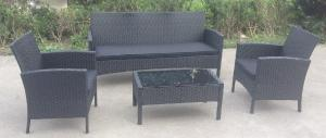 Quality Metal Rattan Outside Table And Chairs Furniture Sets 4 Piece All Weather for sale