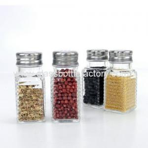 China Clear Spices Glass Jar With Lid on sale