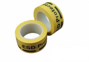 China Acrylic Adhesive Yellow Vinyl Floor Tape For Marking Off ESD Protected Areas on sale