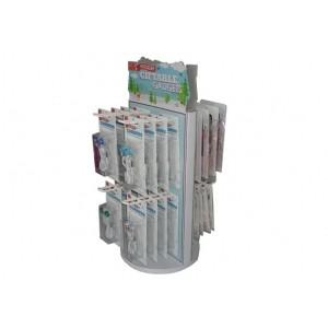 China Die-Cutting Corrugated Cardboard Spinner Display Racks For Store Products Environment Friendly on sale