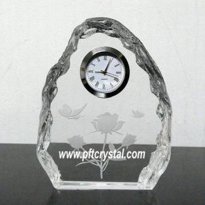 China crystal iceberg clock on sale