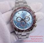 Replica Rolex Daytona Watch 116506 50th Anniversary Brown Ceramic Ice Blue Dial 42mm