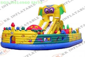 China Animals Children Amusement Park , Giant Inflatable Slide Bouncy Bouncer Fun City on sale