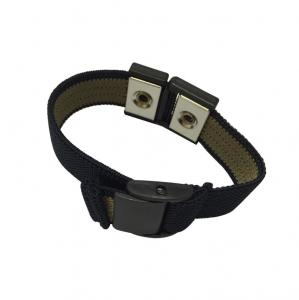 China ESD Safe Dual-Wire Adjustable Woven Wrist Strap with 4 MM Buckle on sale