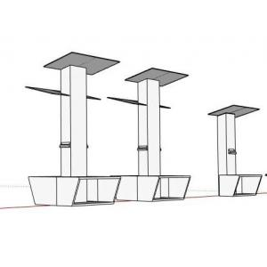 China Outdoor Solar Bench Mobile Phone Charging Station For Sit 6-8 Person , 3000H Mm  Height Pole supplier