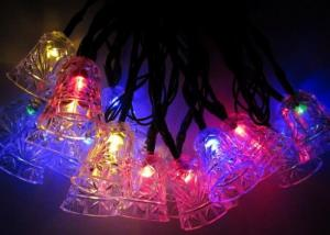 China Jingle Bell 4.8m Solar Powered Decorative String Lights With 20 Bulbs on sale
