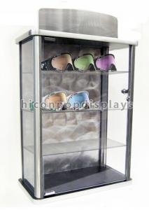 China Table Top Acrylic Display Case Eyewear Retail Shop Advertising Locking Glasses Display Stand on sale