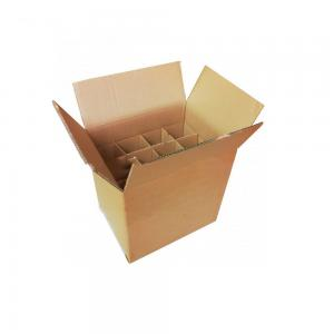China Fancy Cardboard Corrugated Boxes For Packing 24 Bottle Beer on sale