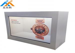 China Touch Screen Transparent Lcd Showcase 32 Quot Indoor Advertising Display 60Hz on sale