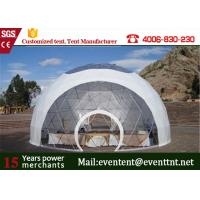 China PVC Roof White Best Tent For Family Camping , Largest Camping Tent  With Clear Roof Top on sale