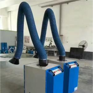 China Good performance Flexible fume extraction arm 160mm PVC coated glass fiber ducting on sale
