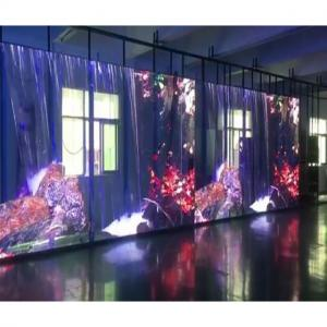 China 1R1G1B Rental LED Curtain Display , Indoor P16 Led Strip Lights IP65 In Club on sale