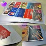 PVC Coated Overlay MCO-W/PVC coated overlay for card body lamination/glue coated film/Card lamination materials