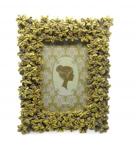 China Blossom Floral Decorative Antique Style Photo Frames Rectangle Widen Border 4x4  on sale