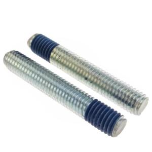 China Steel Custom Fasteners Thread Stud Bolt M5 Rod Headless Blue Nylock Locking on sale
