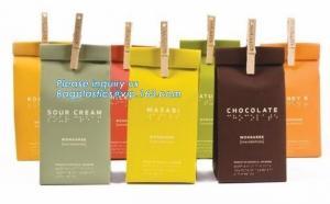 China ECO Friendly Bread Paper Bag/Snack Food Packaging/Brown Kraft Paper Bags,Print Logo Cloth Foods Bread Packaging Brown Kr on sale