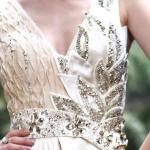 Платье вечера Беадингс элегантных ремней В-шеи длины пола зрелое/Бридесмайдс Дресс-30590