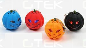 China Halloween Pumpkin Lamp Hi-Fi Rechargeable Mini Speakers Speakers on sale