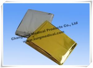 China Small First Aid Kits Space Emergency Mylar Blanket Thermal Foil PET Film on sale