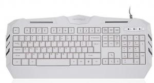 China Low Noise Wired Gaming Keyboard 104 Keys Backlight White Axis USB with 2M Cable on sale