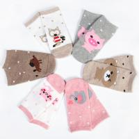 Breathable custom cute cartoon non slip grips tube cotton socks for baby girl