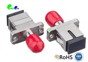 China ST - SC Hybrid Simplex Single Mode Metal Fiber Optic Adapter Mating Sleeve Female To Female SC Footprint on sale