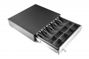 China USB / RS232 Heavy Duty Metal Drawer , 10.8 KG 8 Coin Pos Cash Box Adjustable Dividers 460E on sale
