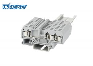 China 281-681 Spring Clamp Terminal Block , Spring Loaded Wire Terminal Easy Operation Nylon PA66 on sale