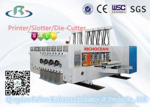 China Multicolors Automatic Flexo Printing Slotting Die Cutting Machine on sale
