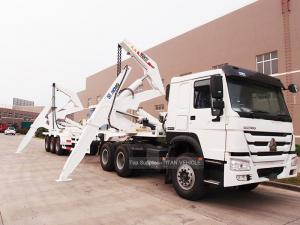 China TITAN 40 Ton 40ft Side Loader Trailer Lifting And Transport Containers on sale