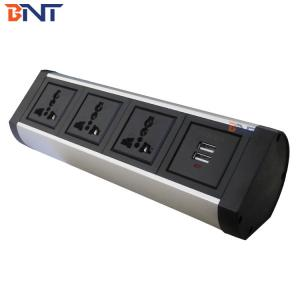China three universal power interface installation method clamp on desk power socket on sale