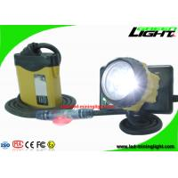 Waterproof LED Miner Headlight with Security Warning Light , 25000 Lux Rechargeable Mining Safety Helmet Lamp