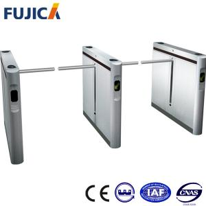 China SS304 Stainless Steel Drop Arm Turnstile Gate , Handicap Flap Tripod Turnstiles on sale