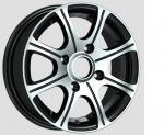 Acabado cromado pulido ruedas de la aleación de 13 pulgadas, ruedas de coche del mercado de accesorios
